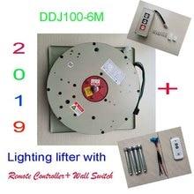 100 кг 6 м падение настенный выключатель + пульт дистанционного Управление подъемник для люстры освещения Lifter электрическая подъёмник для освещения подъема Системы 110 V-120 V, 220-240 V