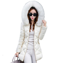 B1411 autumn winter 2017 new women's cultivate one's morality show thin warm collars winter jacket coat cheap wholesale(China)