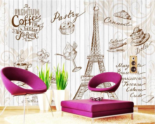 Beibehang aangepaste behang coffeeshop restaurant huis decoratieve
