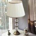 Роскошная классическая американская спальня настольная лампа фойе Европейская Хрустальная настольная лампа стеклянный высокий Настольны...