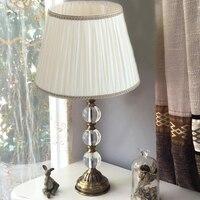 Moderne kreative luxus kristall tischlampe nachttischlampe schlafzimmer kunst wohnzimmer einfache dekorative tischlampe