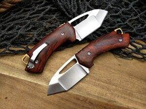 Image 2 - LCM66 D2 staal Vouwen Mes, Rode schaduw hout Survival Messen, Zeer sharp Mini Rescue Zakmes, gift Sleutel mes Gereedschap