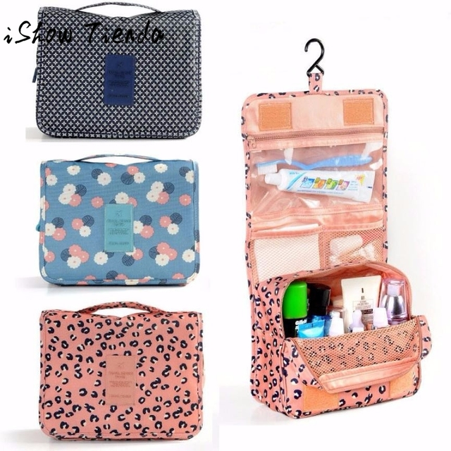 Pockettrip Hanging Toiletry Kit Clear Travel BAG Cosmetic Carry Case  Toiletry Maleta De Maquiagem 1bbc91619deed