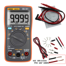 AN8008 Orange True-RMS Digital Multimeter 9999 counts transistor tester capacitor automotive electrical rm409b clip test