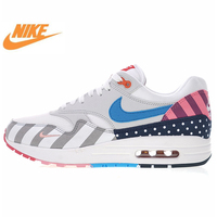 Nike Air Max 1 White Multi Men's and Women's Running Shoes, Outdoor Sports Breathable Lightweight AT3057 100