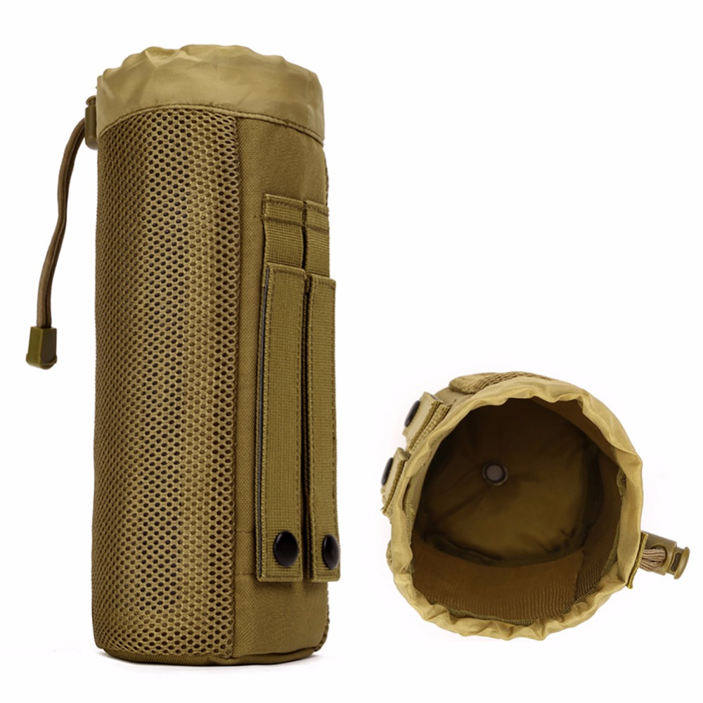 Protector Plus Outdoor Sport Camping Hiking Tactical Water Bottle Pouch Military Molle Pack Camouflage Gear Waist Back Pack L2