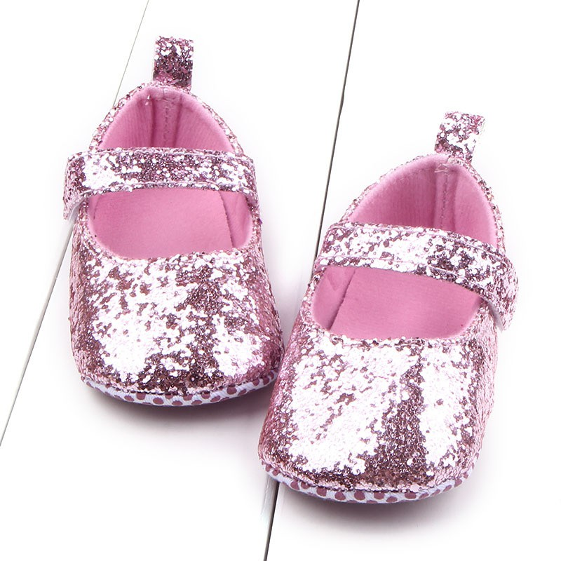 Baby meisjes eerste Walker peuter katoen Sequin baby zachte enige - Baby schoentjes - Foto 2