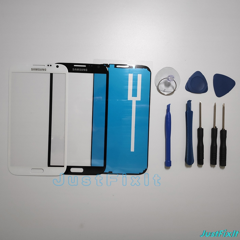For Samsung Galaxy Note 2  N7100 GT-N7100 N7105 LCD Display Touch Screen Panel Front Glass Lens Parts