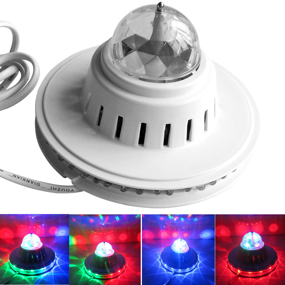 2015 Crystal Moving Head RGB Color Auto Rotating Changing UFO ...