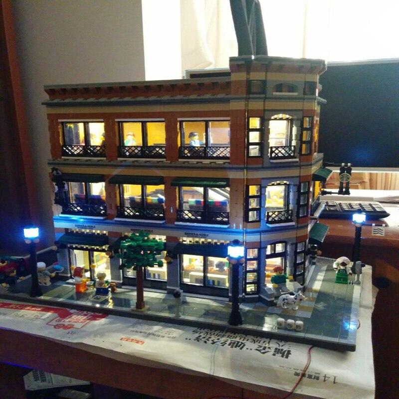 Led Lumière Ensemble Pour Lego Bâtiment Ville Rue Starbucks Librairie Café Compatible 15017 Blocs Jouets Créateur Ville Rue Éclairage