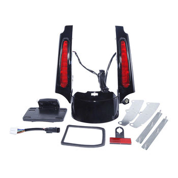 Led Light Rear Fender Extension Fascia Kit For Harley Street Road King Glide Motorcycle Accessories