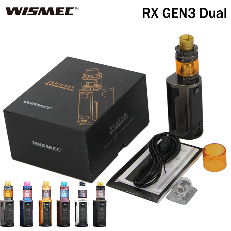 Wismec Reuleaux RX GEN3 Dual Kit with GNOME King Tank 5 8ML and 230W RX GEN