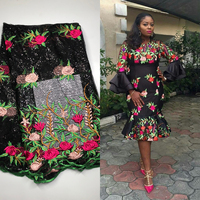 PROMOTION 5yards Lot 2018 High Quality Nigerian French Lace African Lace Fabric For Party Dress Africa