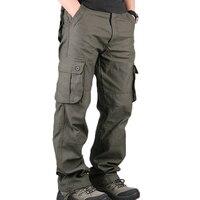 Men S Cargo Pants Mens Casual Multi Pockets Military Large Size 44 Tactical Pants Men Outwear
