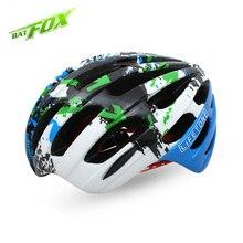 BATFOX Unisex Cycling Helmet Ultralight MTB Road Bicycle Helmet Capacete Anti Collision Safety Bike Helmet Casco