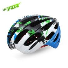 BATFOX Unisex Cycling Helmet Ultralight MTB Road Bicycle Helmet Capacete Anti-Collision Safety Bike Helmet Casco Bicicleta L613