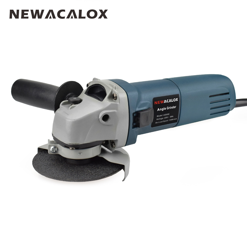 NEWACALOX EU 220V 670W 100mm Handheld Electric Angle Grinder Speed Regulating Grinding Machine for Metal Wood Polishing Cutting цена
