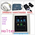 [Free Shipping] ABPM+SpO2 Ambulatory Blood Pressure Monitor+Automatic 24h BP Meter PM50 Blood Pressure Holter Monitor