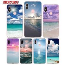 Transparent Soft Silicone Phone Case Sea Sky beach for Xiaomi Redmi S2 Note 7 4 4X 5 5A 6 6A Pro Plus