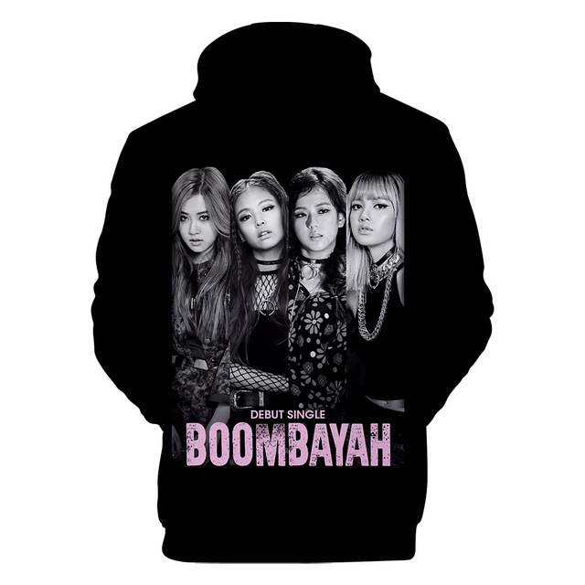 FancyLove 3D Hoodies Blackpink KPOP Clothes Long Sleeve Hooded Pullover Cotton