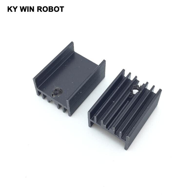 10 pçs frete grátis alumínio to-220 dissipador de calor para 220 dissipador de calor transistor radiador to220 refrigerador resfriamento preto 20*15*10mm