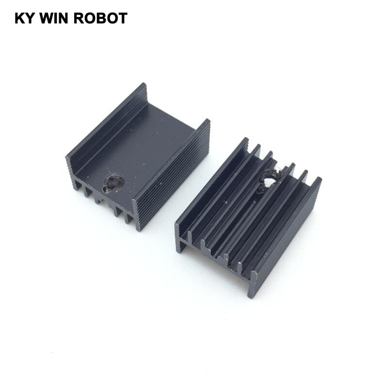 10pcs Free Shipping Aluminium TO-220 Heatsink TO 220 Heat Sink Transistor Radiator TO220 Cooler Cooling Black 20*15*10MM