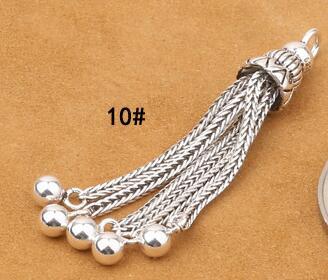 925 Серебряная кисточка DIY браслет кисточка чистое серебро ювелирные изделия кисточка - Цвет: Style 10