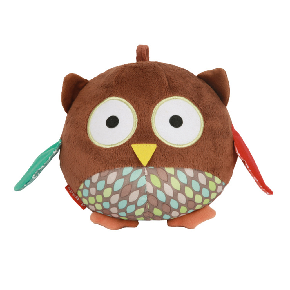 Born Baby Toy Owl Shape Design Comforting Appease Doll With BB Rattles Soft Plush Doll Educational Toys New Dropshipping