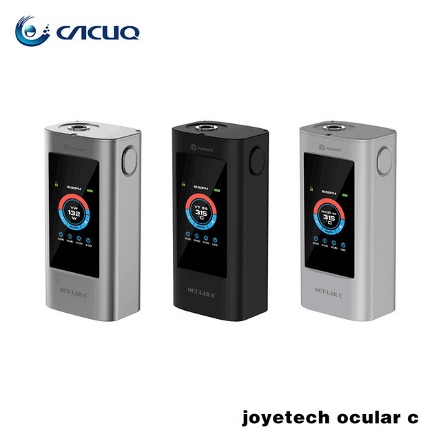 100% original joyetech ocular c soporte bluetooth con pantalla táctil pantalla táctil 150 w caja mod 18650 caja mod