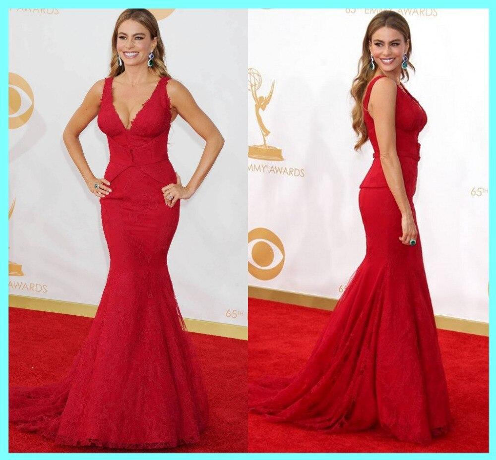 Online Shop New Arrival Red Mermaid celebrity inspired dresses ...