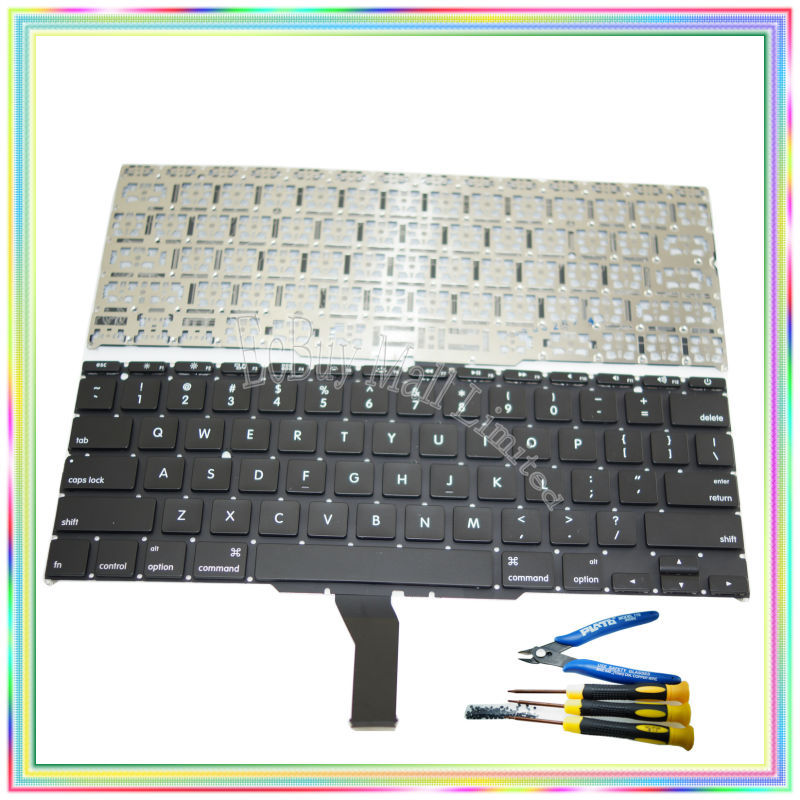 "Brand new US Keyboard without Backlight & keyboard screws screwdriver tools for Macbook Air 11.6 inch"" A1370 A1465 2011-2014 Years"""