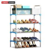 Magic Union простые металлические железные полки для обуви Многоуровневая школьная полка для хранения обуви, домашний вход, обувной шкаф