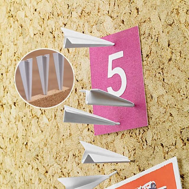 6Pcs/lot Creative Cute Office Drawing Pins Plane Pushpin Thumbtack Gifts  Office School Supplies
