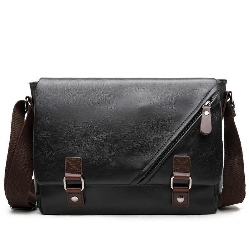 Luxury Brand Leather Men Bag Casual Business Messenger Bag for Vintage  Men s Crossbody Bag Male Shoulder feae6c15b2a07