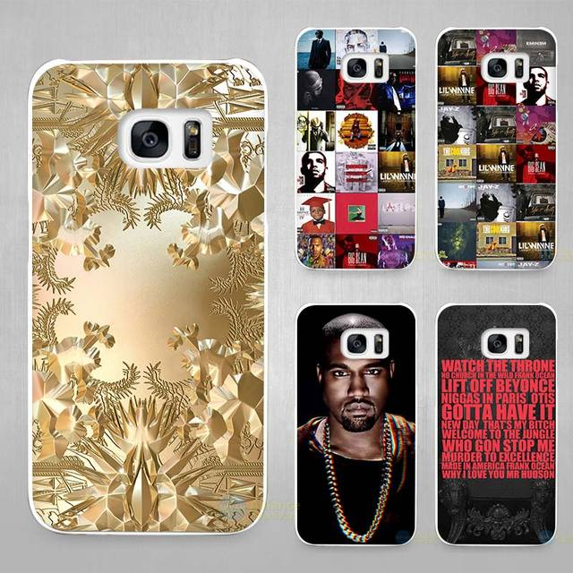 Jay Z Kanye West Hard Shell Case Cover Phone Cases for Samsung Galaxy S4 S5 S6 S7 Edge Plus