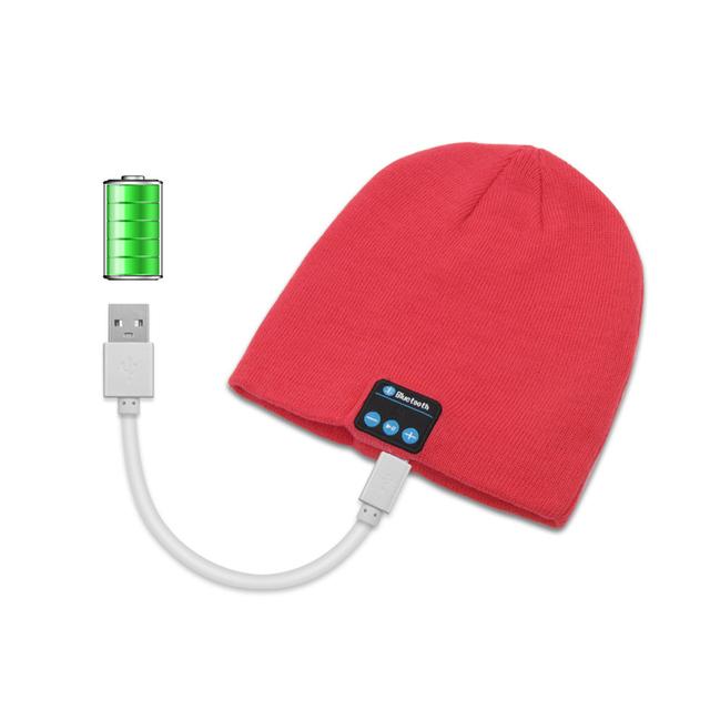HLTON Hot Smart Cap Soft Warm Hat Wireless Bluetooth Headset Headphone Speaker Mic Bluetooth Music Hat For Smart Phone