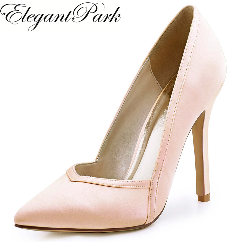 Shoes Woman High Heels Wedding Shoes Burgundy Blush Pointed Toe Satin Bride Bridesmaids Bridal Prom Evening Party Pumps HC1603 hc1610 burgundy women bride bridesmaids dress court pumps pointed toe d orsay stiletto heels buckle satin wedding bridal shoes