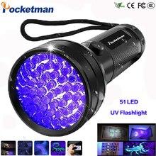 Linterna UV luz negra, 9 12 21 51 LED 395 nM luz ultravioleta Detector de luz negra para orina de perro, manchas de mascotas y Bichos de cama z50