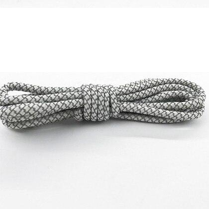 Leyou 100-160cm люминесцентная лампа кроссовки шнурки спортивные шнурки 3м Reflective круглые веревочные шнурки светлые шнурки Led - Цвет: White