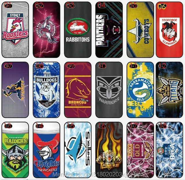 huge discount 952dd f06e6 Großhandel Lot Malerei NRL Team Logo Handy Abdeckung Für Apple iphone 4 4 S  5 5 S SE 5C 6 6 S 7 Plus iPod Touch 4 5 6 Mobile fall in Großhandel Lot ...
