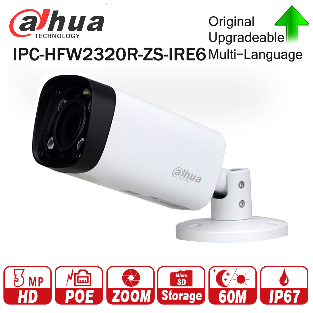 Dahua IPC-HFW2320R-ZS-IRE6 3mp Zoom Camera Motorized 2.7mm~12mm with 16X Digistal Zoom Support SD Card CCTV Camera
