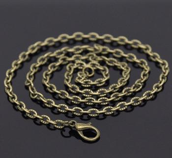 """MJARTORIA 12 Uds. Collar de cadena con textura de tono bronce de 0,7mm de espesor 20 """"de alta calidad DIY accesorios para joyería DIY cadenas de eslabones"""