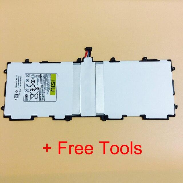 Bateria de alta qualidade para samsung galaxy note 10.1 tab 2 bateria p7500 p7510 p5100 p5110 n8000 n8010 para samsung tab repair + ferramenta
