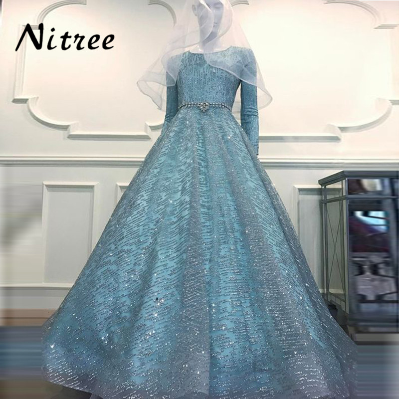 1814bd404a Muslim Sequins Evening Dresses African Dubai Turkish Formal Prom Gowns  Dress For Weddings Bling ...