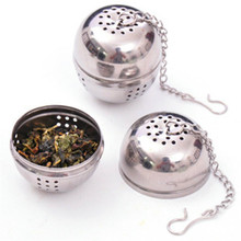 BG-33 Portable Stainless Steel Tea Infuser, Strainers, Spice Bag Container, Ball Infuser Filter, Kitchen Tools