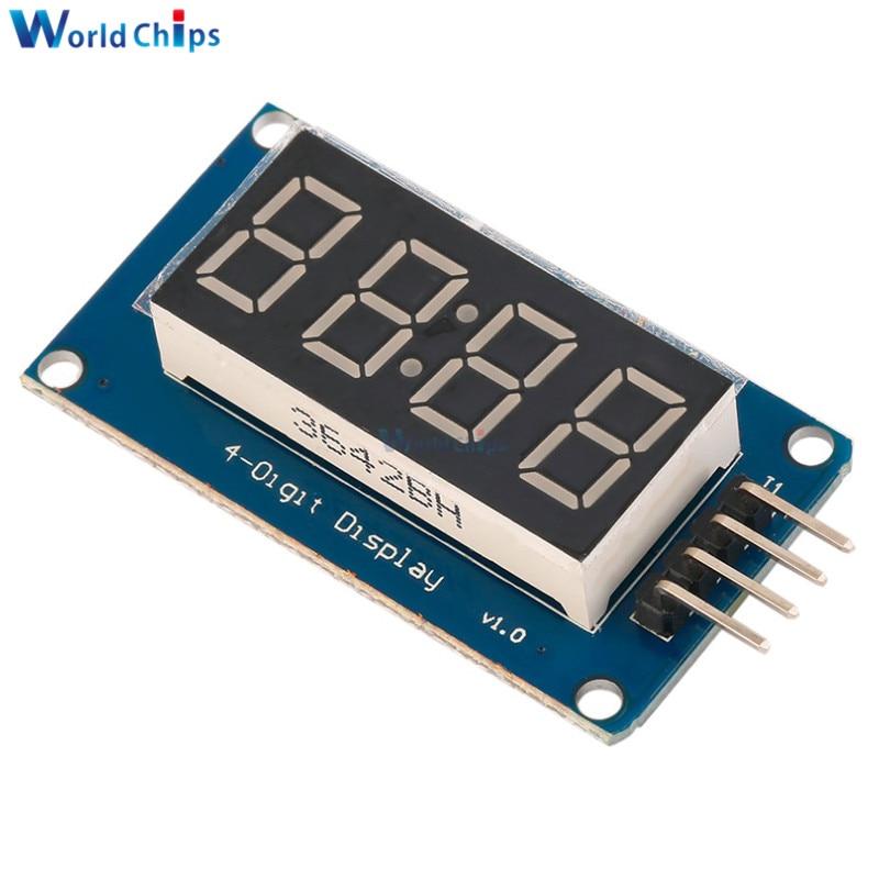 2PCS TM1637 LED Display Module For Arduino 7 Segment 4 Bits 0.36Inch Clock RED Anode Digital Tube Four Serial Driver Board Pack