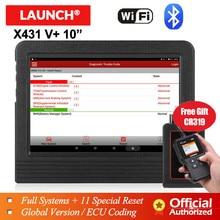 LAUNCH X431 V + V plus 10 автомобильные инструменты для диагностики автомобильного инструмента obd2 сканер Bluetooth wifi полная система obd 2 сканер PK X431 pro3