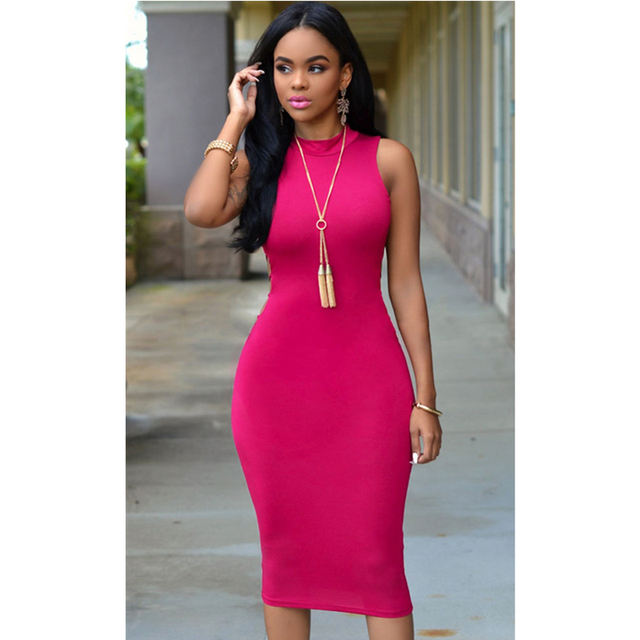 Pink embroidered bodice bodycon midi dress