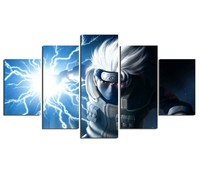 5 Piece Wall Art Picture Animated Cartoon Characters Poster Painting Canvas Home Decor Living Room Canvas