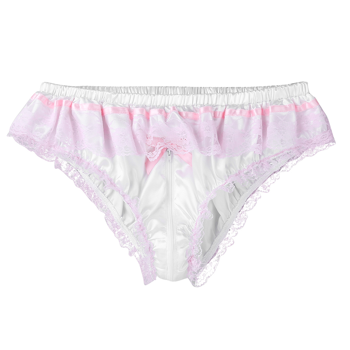 Hand Dyed Eco-Friendly Intimates Ruffley Lingerie Satin Underwear Florid Satin Bloomers in Vintage Pink  Satin Lingerie Ruched Panties